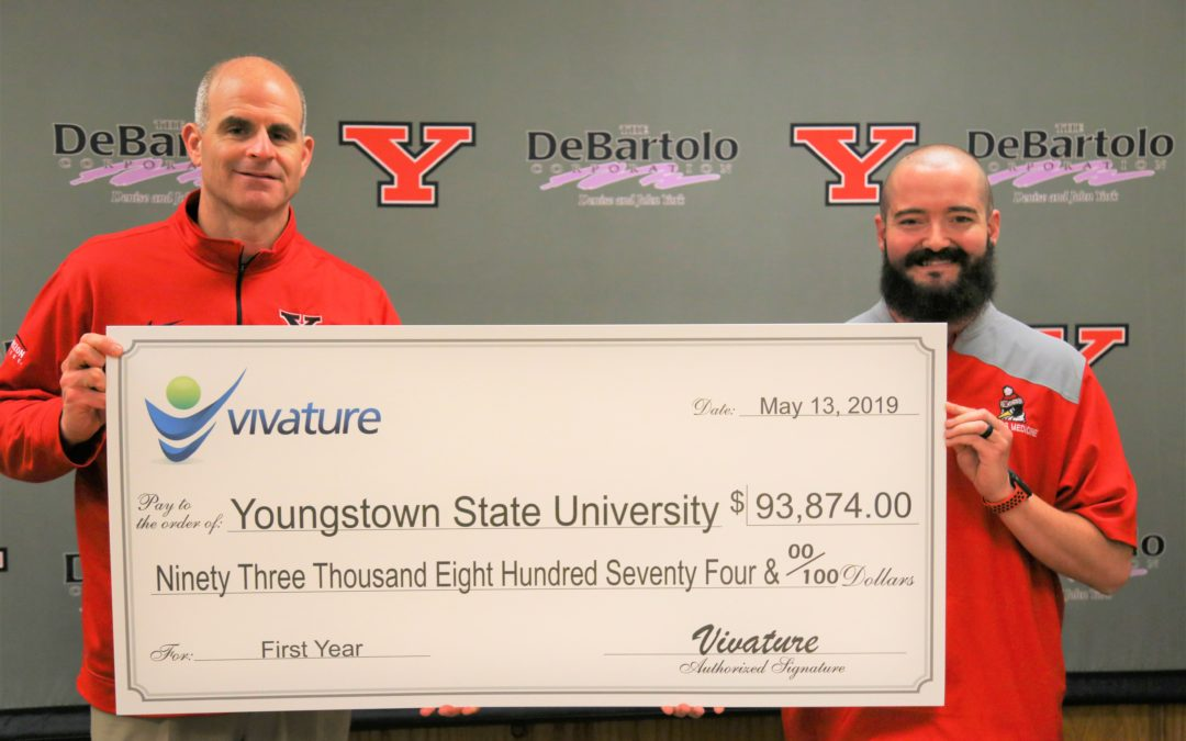 YOUNGSTOWN STATE UNIVERSITY PRESENTED WITH FIRST-YEAR REVENUE CHECK