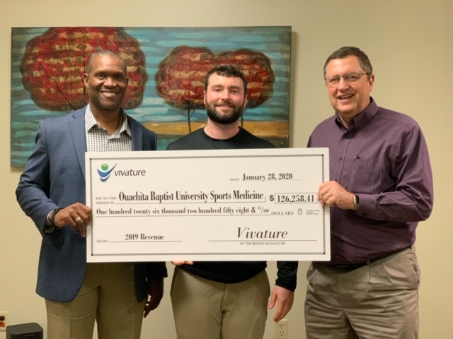 VIVATURE PRESENTS IMPRESSIVE $126k CHECK TO OUACHITA BAPTIST UNIVERSITY